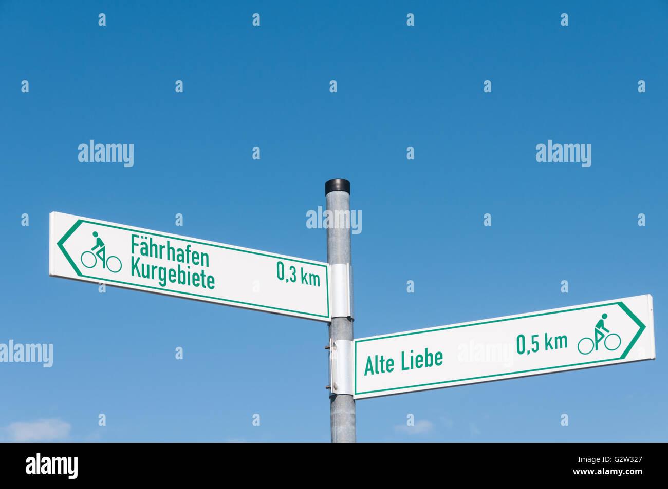 Signs Alte Liebe Faehrhafen - Stock Image