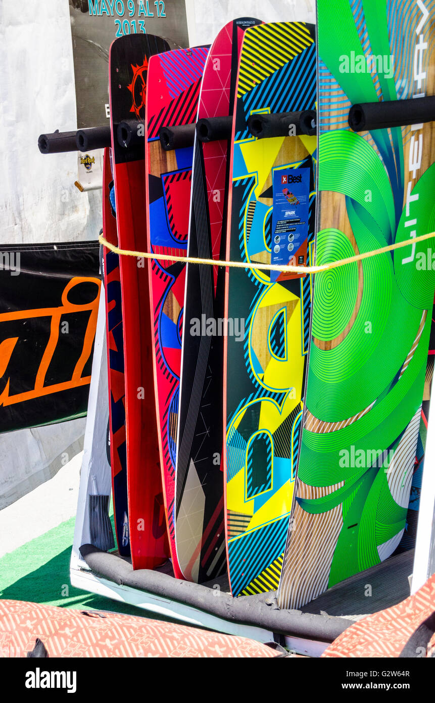 KGB kite boarding equipment at the Marina In Emeryville California - Stock Image