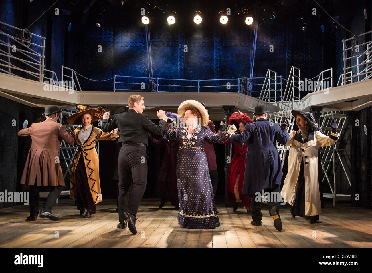 London, UK. 3rd June, 2016. The award-winning musical Titanic by Maury Yeston and Peter Stone opens at Charing Cross - Stock Image