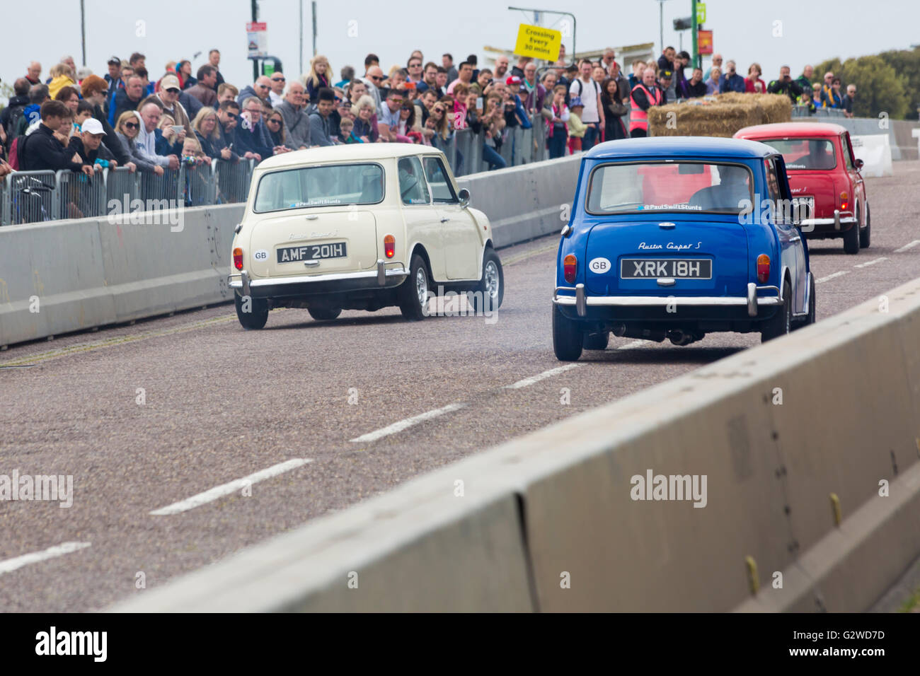 Bournemouth, Dorset UK 3 June 2016. The first day of the Bournemouth Wheels Festival. The Italian Job takes place - Stock Image
