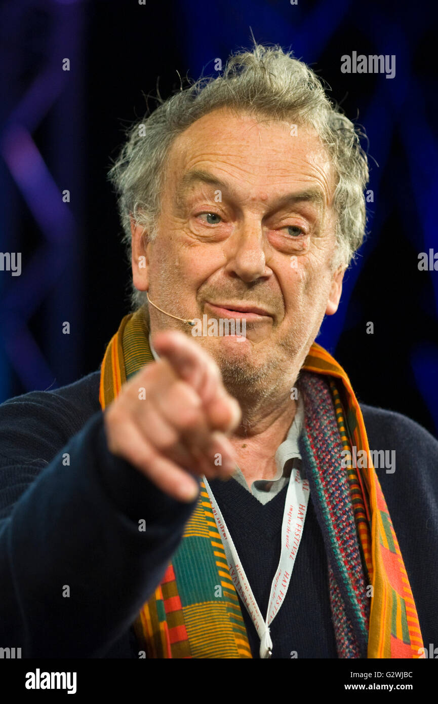Hay Festival 4th June 2016. Stephen Frears film director speaking on stage at Hay Festival 2016 talking about the - Stock Image