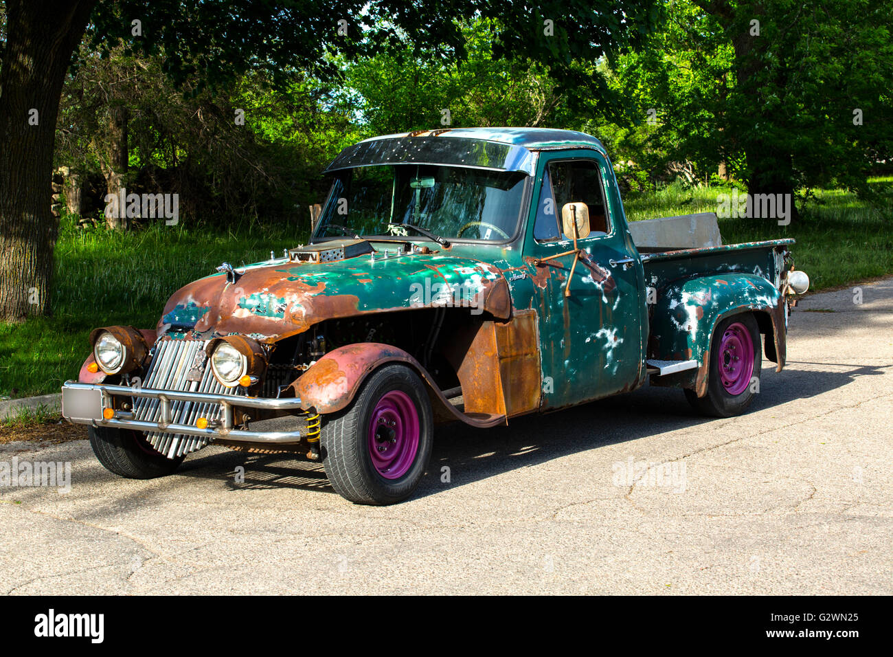 Customized Classic Pickup Truck Stock Photos 1941 Mercury Pick Up 1954 M 100 Rat Rod Image