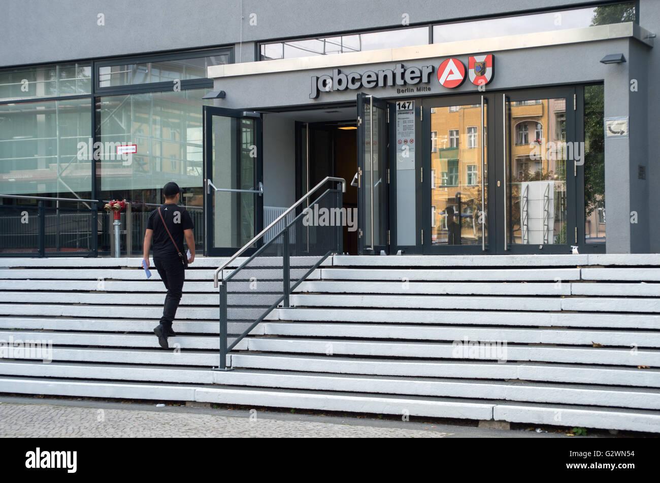 berlin germany job center berlin mitte in muellerstrasse stock