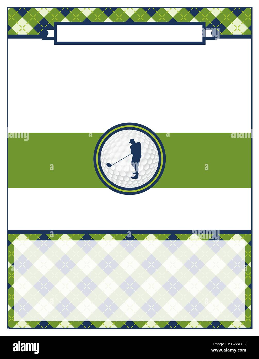 A template for a golf tournament scramble invitation flyer. Vector EPS 10 available. - Stock Vector
