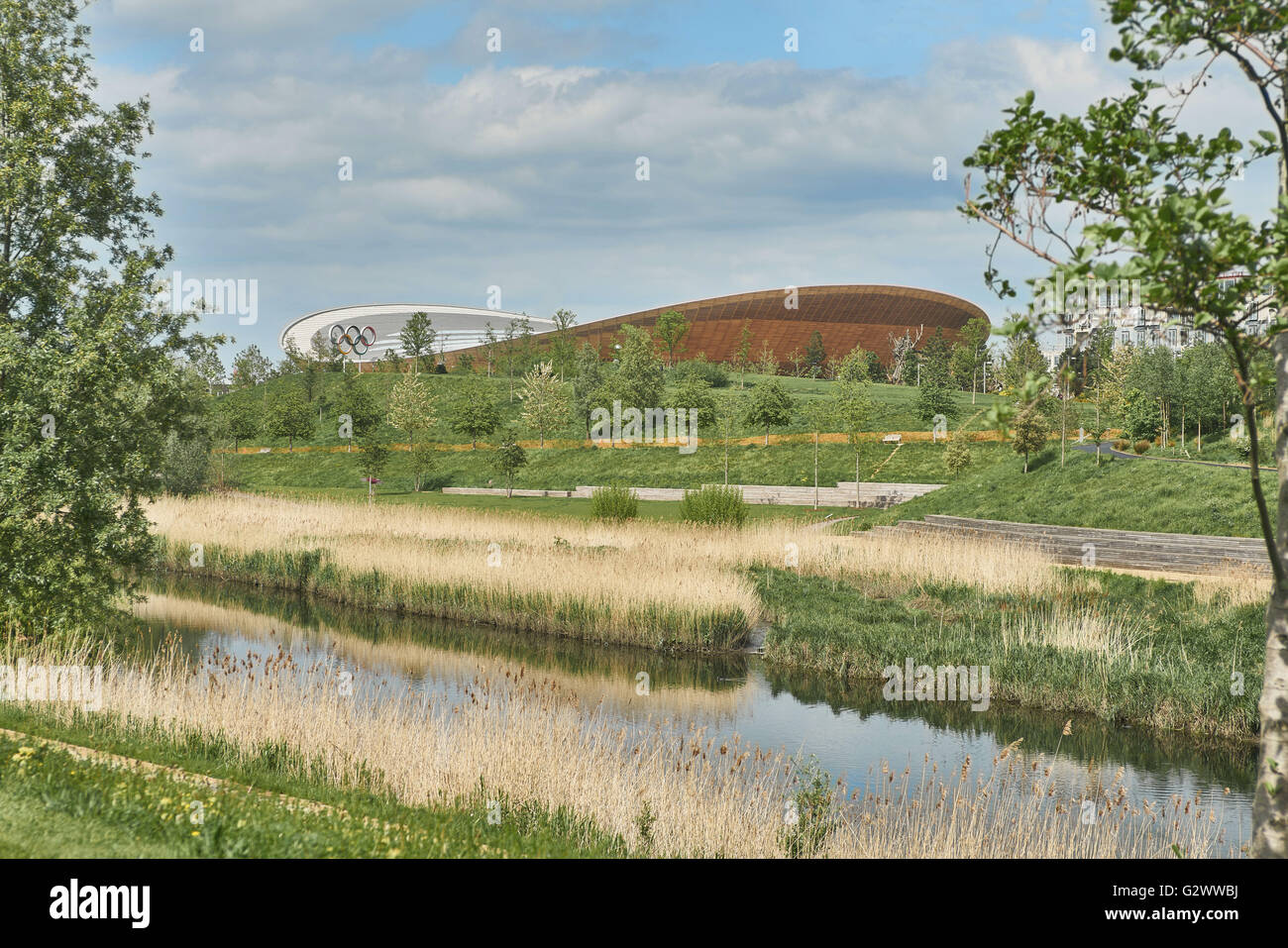 Olympic Park London,  Velodrome - Stock Image
