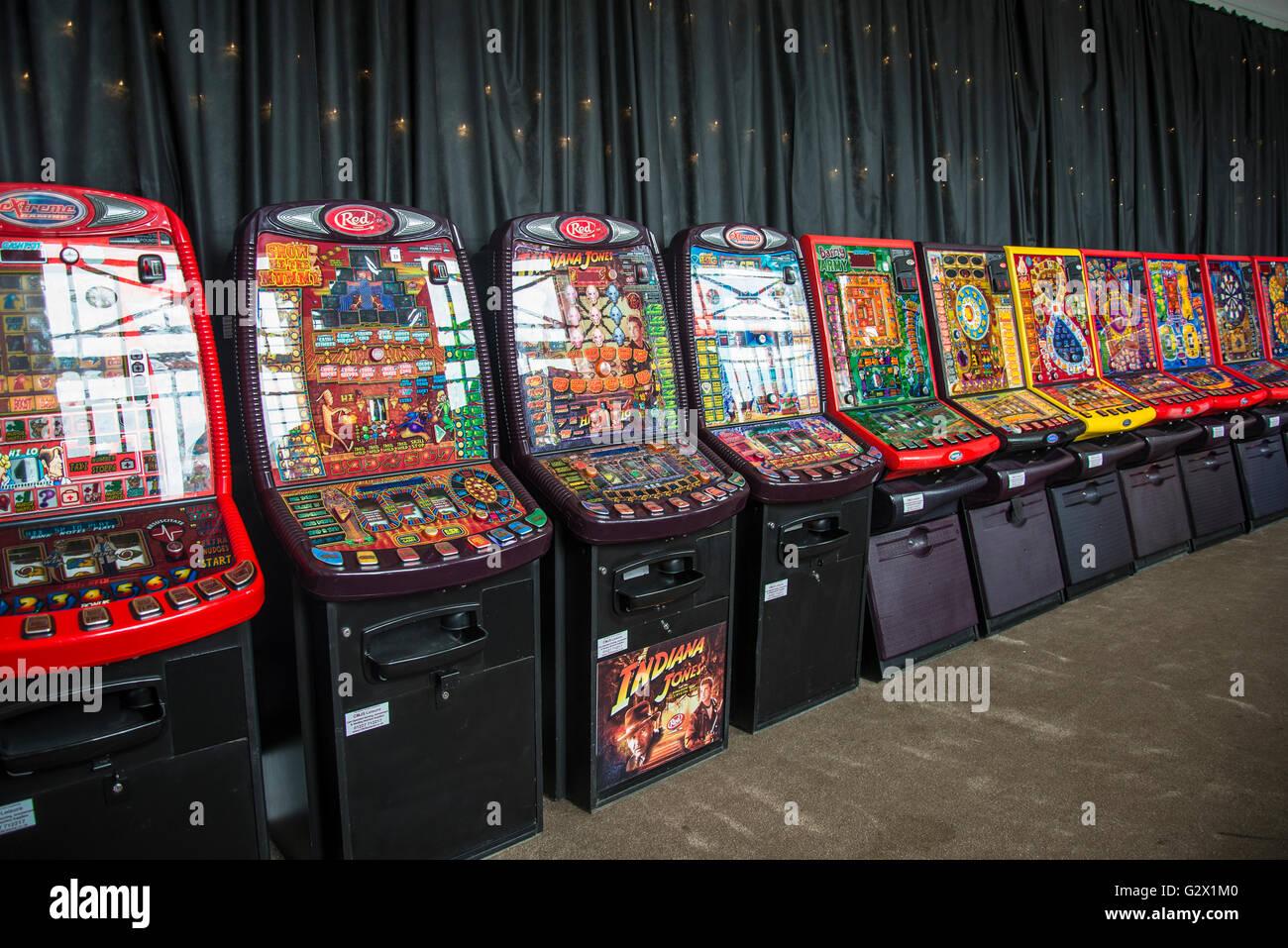 Gambling machines, Kent, England, UK - Stock Image