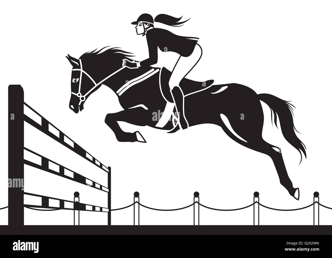Horseback Riding Stock Vector Images
