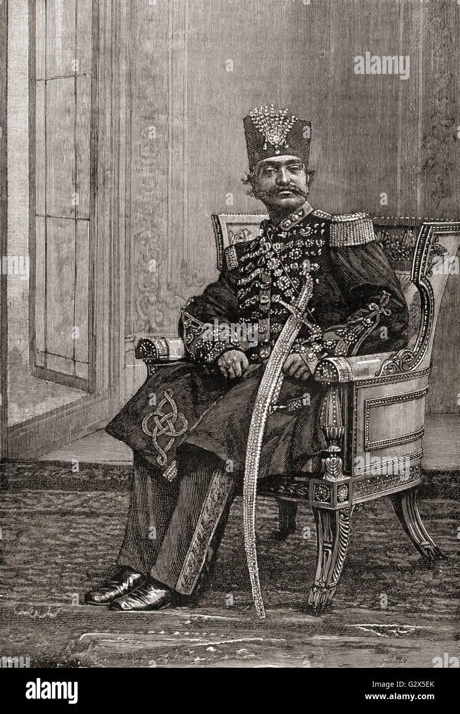 Naser al-Din Shah Qajar aka Nassereddin Shah Qajar, 1831 – 1896.  King of Persia. - Stock Image