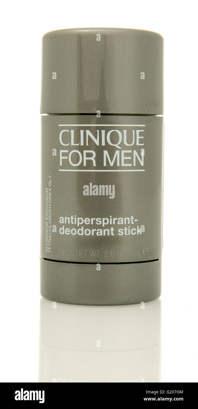 Winneconne, WI - 2 June 2016:  Stick of Clinique deodorant on an isolated background Stock Photo