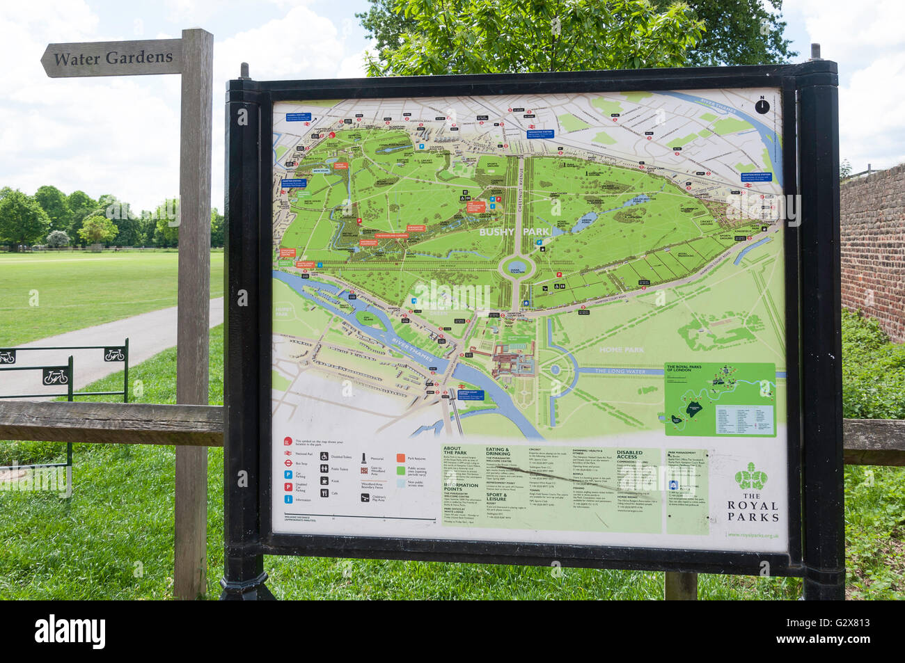 Bushy Park Map Bushy Park map at Hampton Hill Newgate, Hampton Hill, Borough of