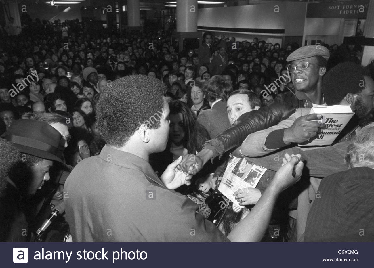 File photo dated 11-03-1976 of Pandemonium breaks out in the Menswear department at Selfridges store in Oxford Street, - Stock Image