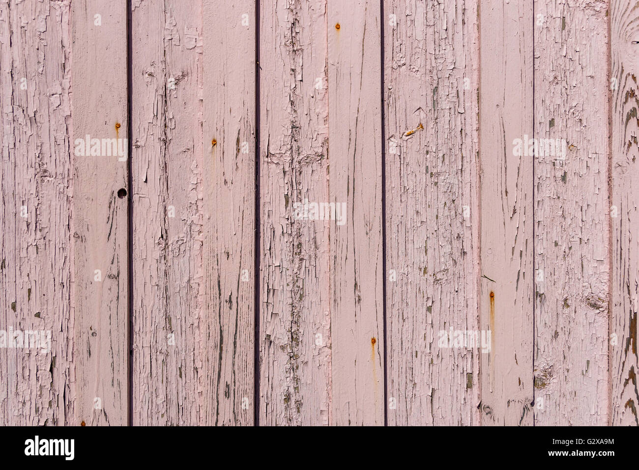 Details of an old pink wooden wall - Stock Image