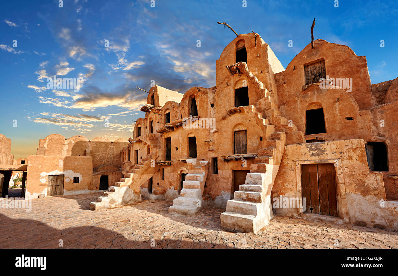 Ksar Ouled Soltane, fortified granary near Tataouine, Tunisia Stock Photo