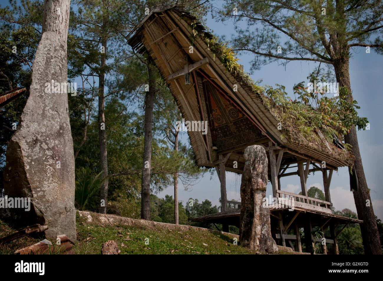 Sulawesi, Kete Kesu Village, traditional house - Stock Image