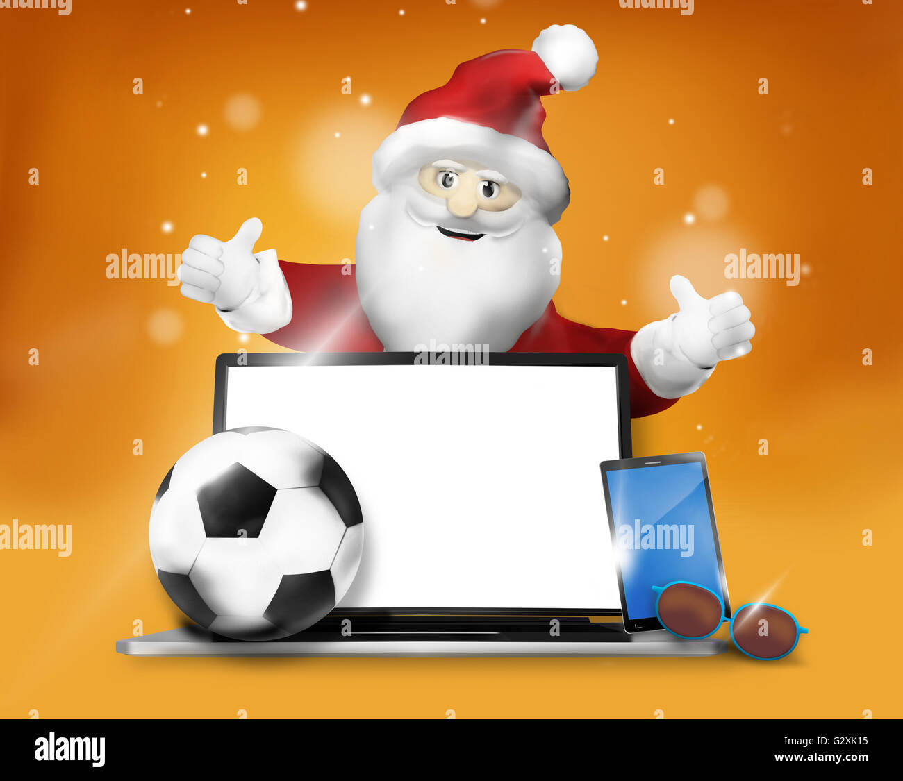 Christmas Gifts 3D Design Background Stock Photo