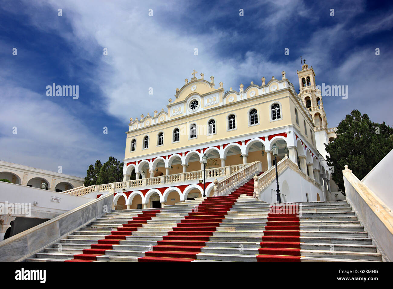 The church of Virgin Mary (Panagia) in Tinos island,. Cyclades, Aegean Sea, Greece Stock Photo