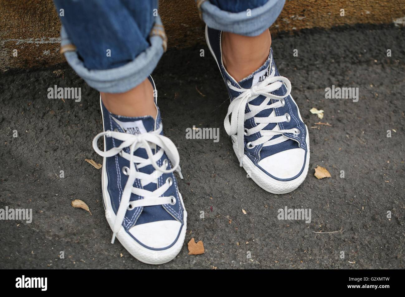 Jeans Tennis Shoes Stock Photos Jeans Tennis Shoes Stock Images
