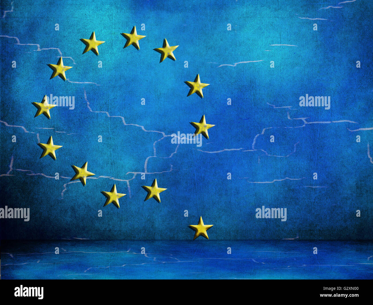 EU European Union looking flaky. In difficulty. - Stock Image