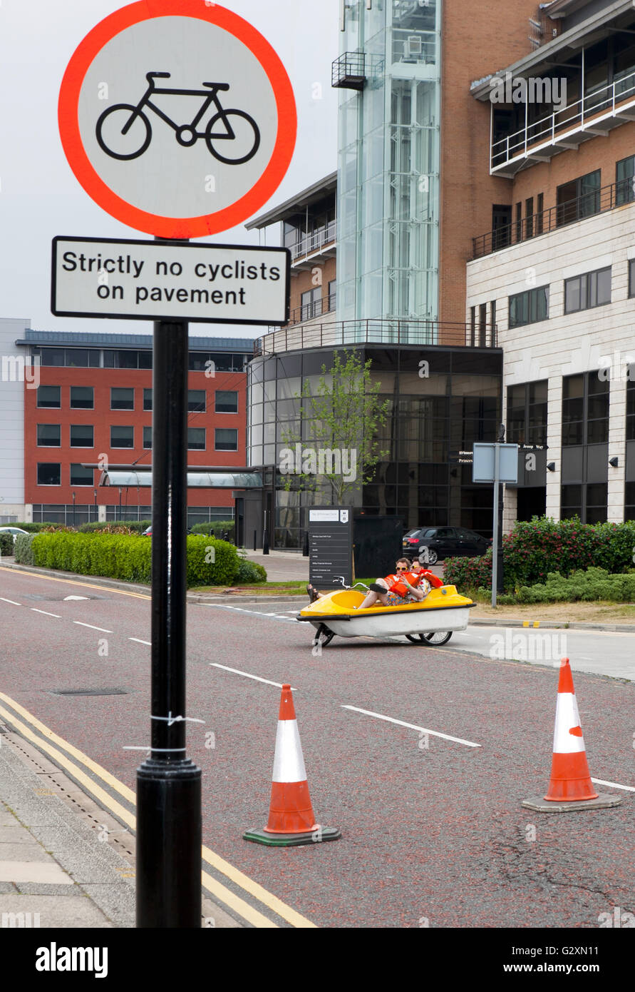 a uk no access restriction restricted park parking warning sign signs prohibit prohibited car vehicle vehicles forbid - Stock Image