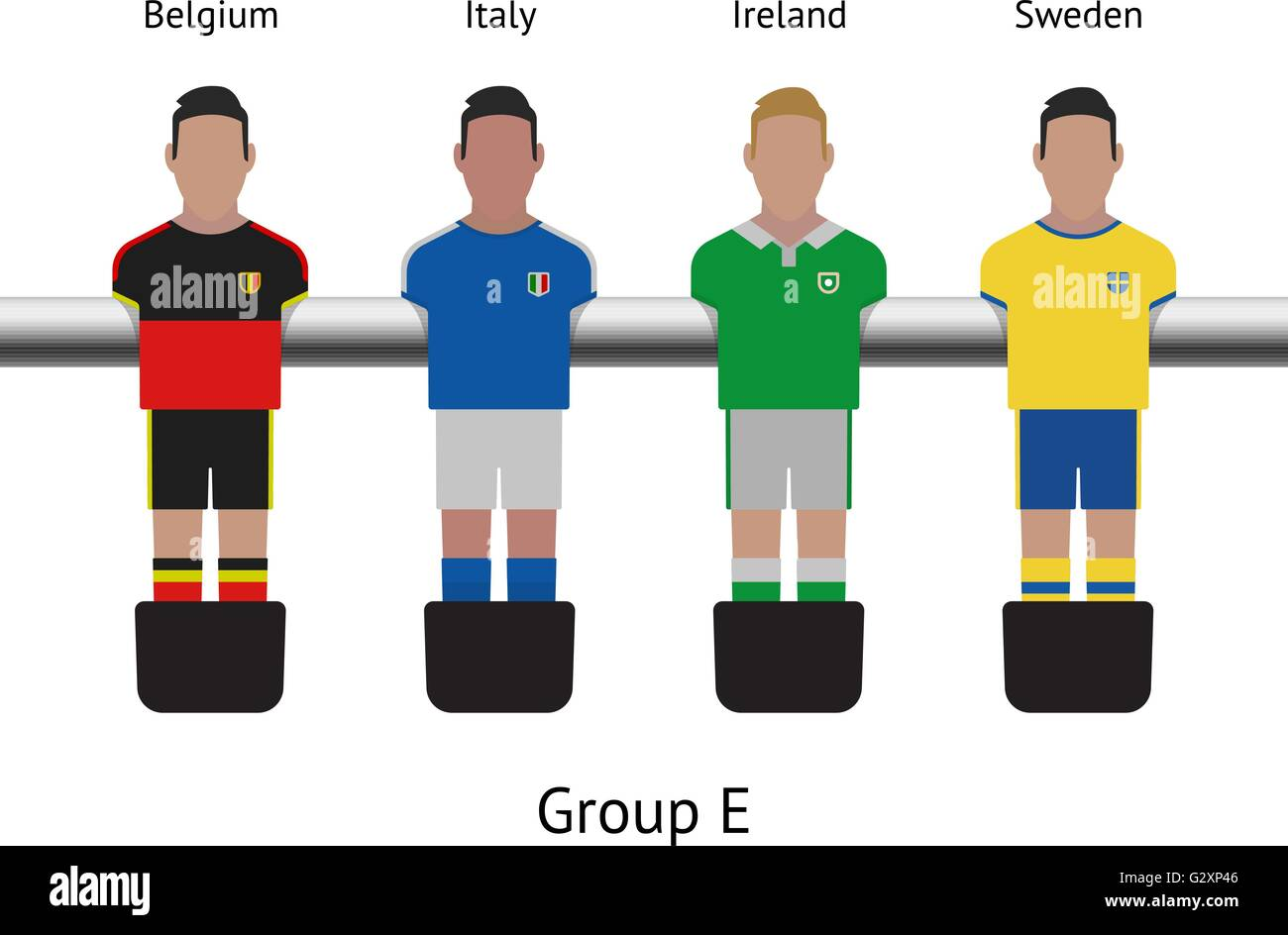 Table football game. foosball soccer player set. Belgium Italy Ireland Sweden  sc 1 st  Alamy & Table football game. foosball soccer player set. Belgium Italy ...