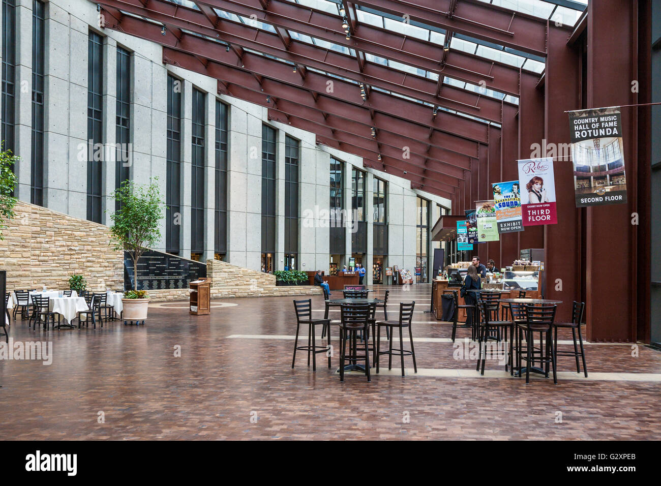 Interior Of Lobby Of The Country Music Hall Of Fame And Museum In Downtown Nashville Tennessee Stock Photo Alamy
