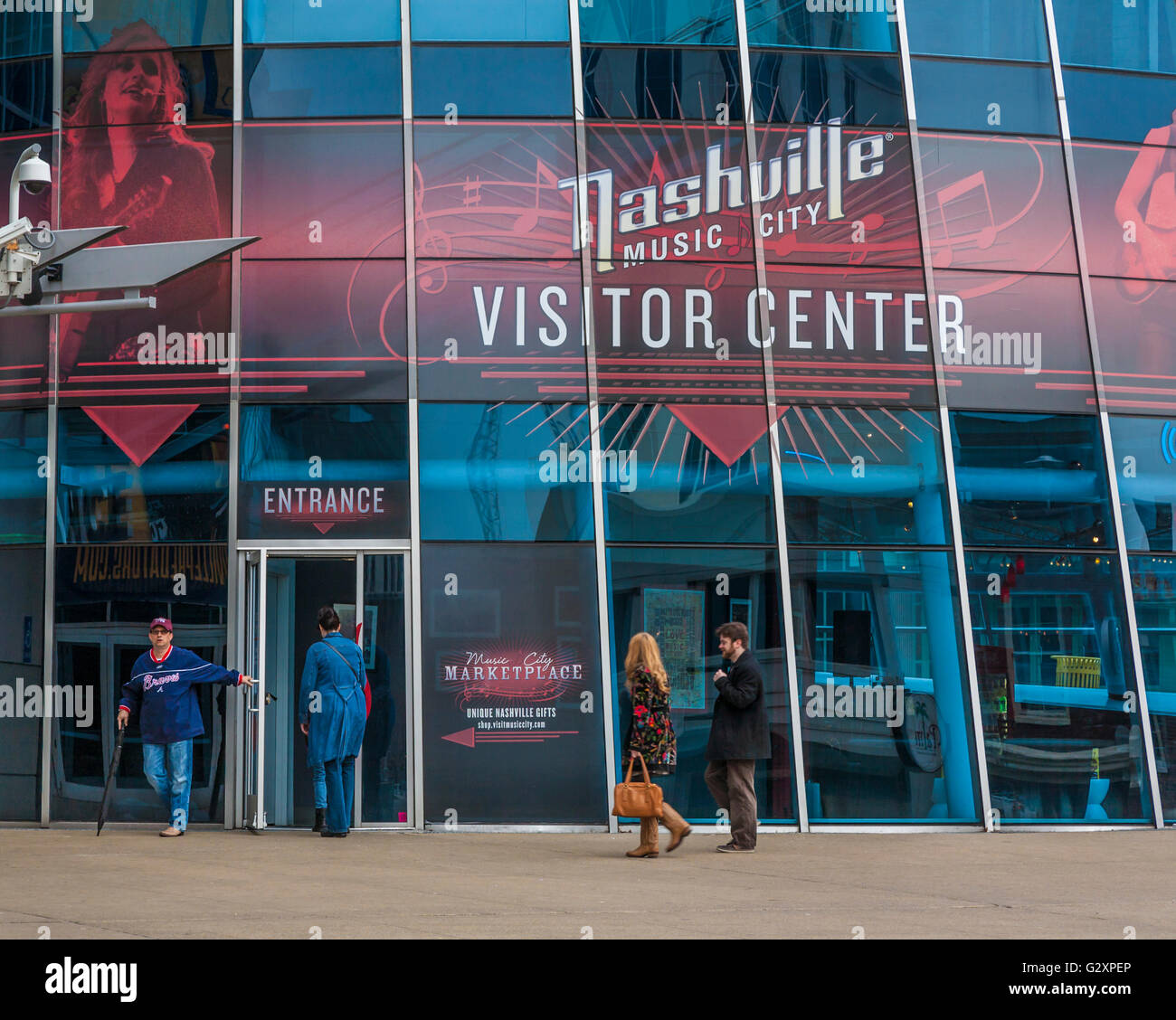 Music City Marketplace at the Visitor Center in downtown Nashville, Tennessee - Stock Image