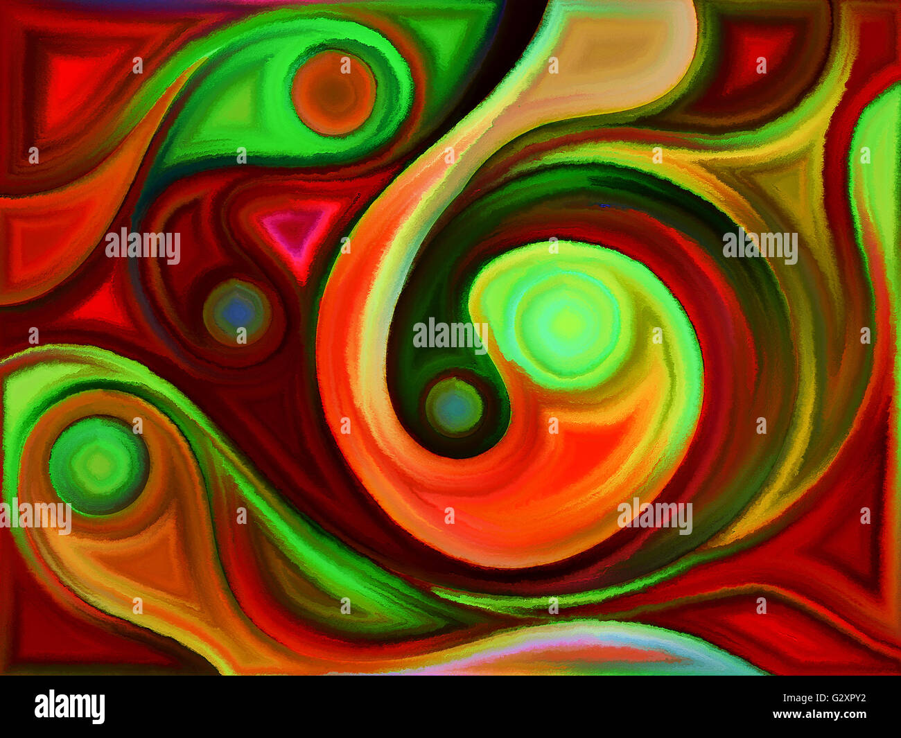 Motion of Colors series. Backdrop of swirls of colors on the subject of spirituality, imagination and art - Stock Image