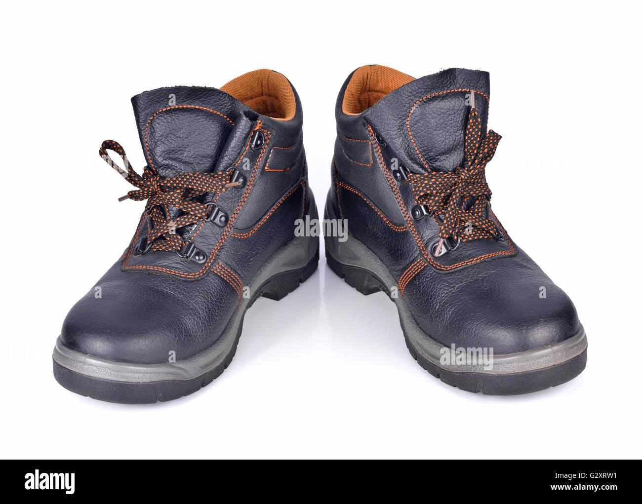 Safety Shoes isolated on white background - Stock Image