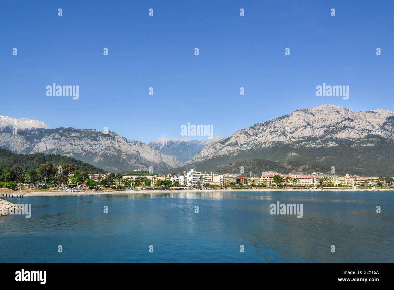 travel, landscape, nature, beautiful word, turkey, kemer, boattrip, amazing, seaside, panorama, Mediterranean coast, - Stock Image