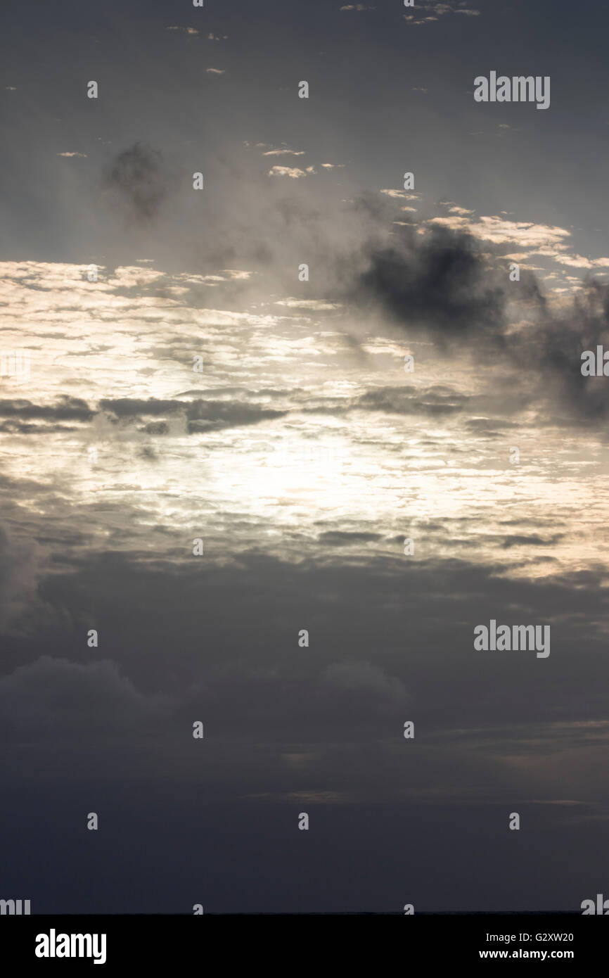 Sunset at Bounty Island, New Zealand sub-Antarctic - Stock Image