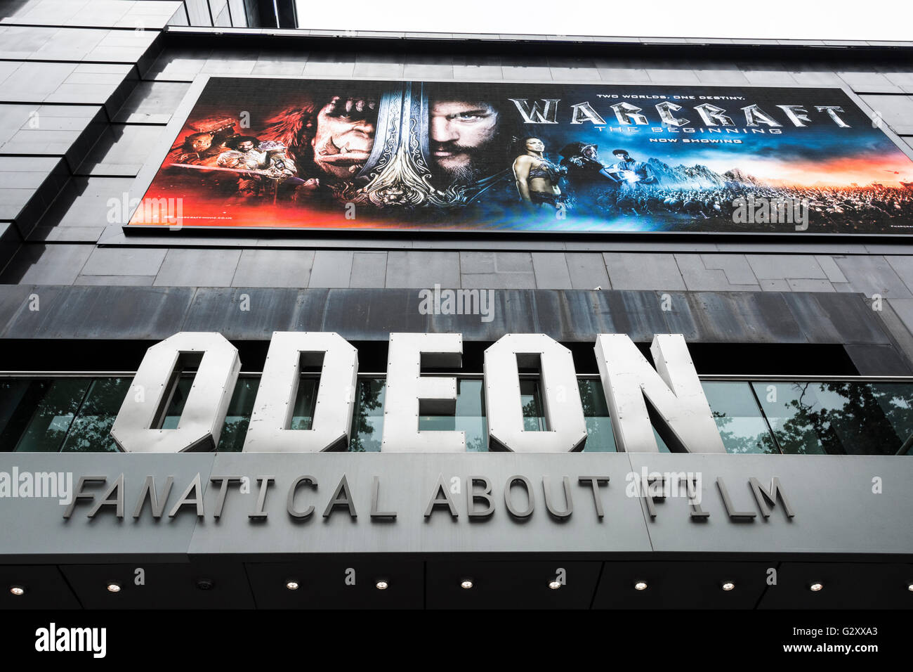 Exterior of Odeon Leicester Square, London, England, UK - Stock Image