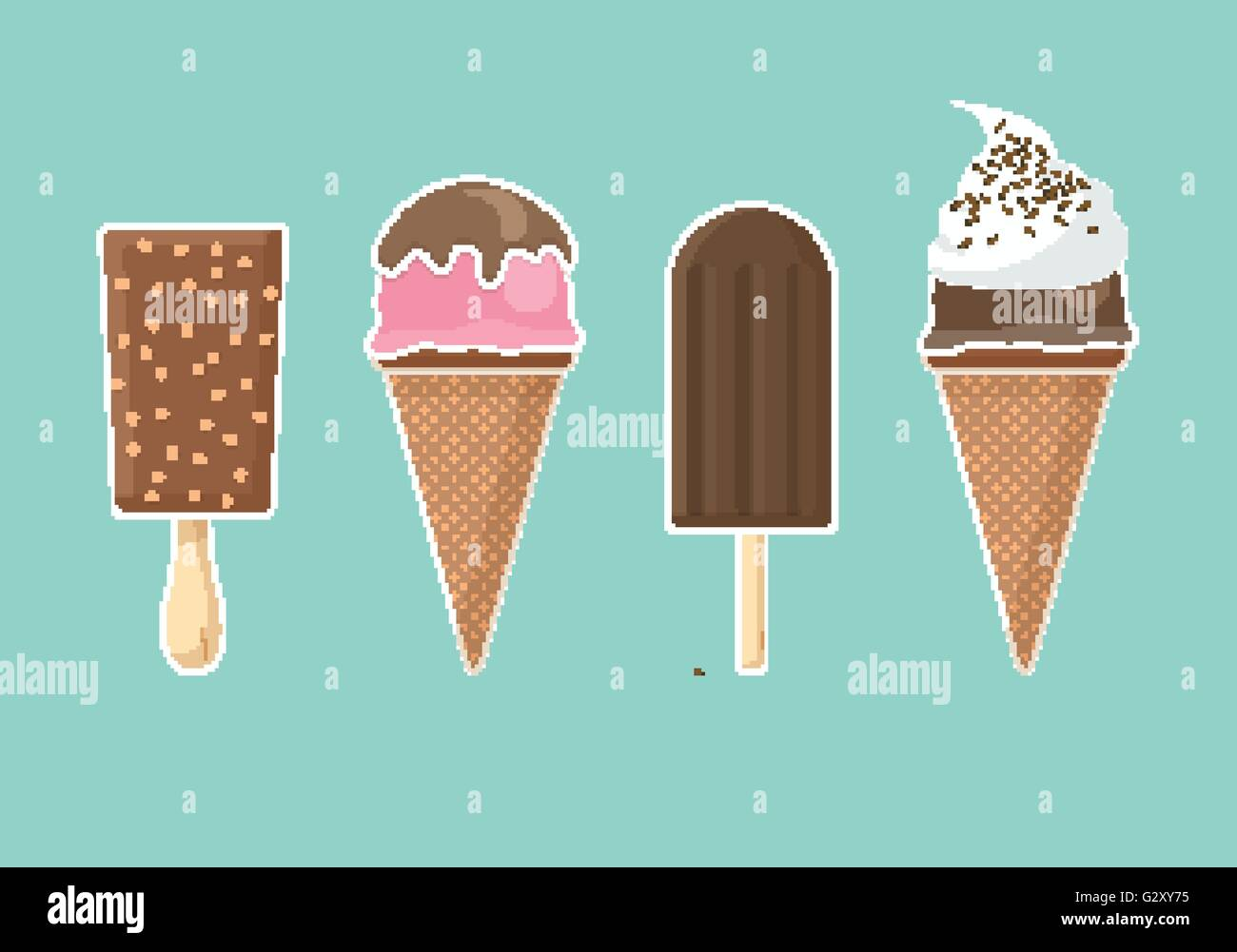 Vector ice cream set. Stock Vector