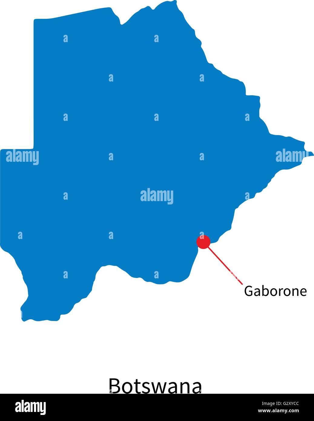map of gaborone city botswana Detailed Vector Map Of Botswana And Capital City Gaborone Stock map of gaborone city botswana