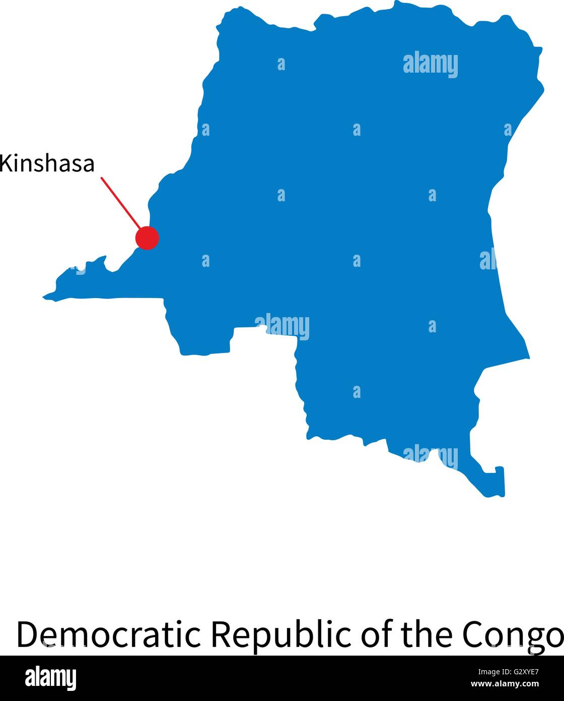 Map Democratic Republic of the Congo and capital city Kinshasa Stock on abidjan map, brazzaville map, dar es salaam, mogadishu map, timbuktu map, kigali map, cape town, africa map, nairobi map, cape town map, praia map, cairo map, yaounde map, congo river, freetown map, luanda map, leopoldville map, kuala lumpur map, maputo map, malabo map, congo map, addis ababa, kampala map, lagos map,