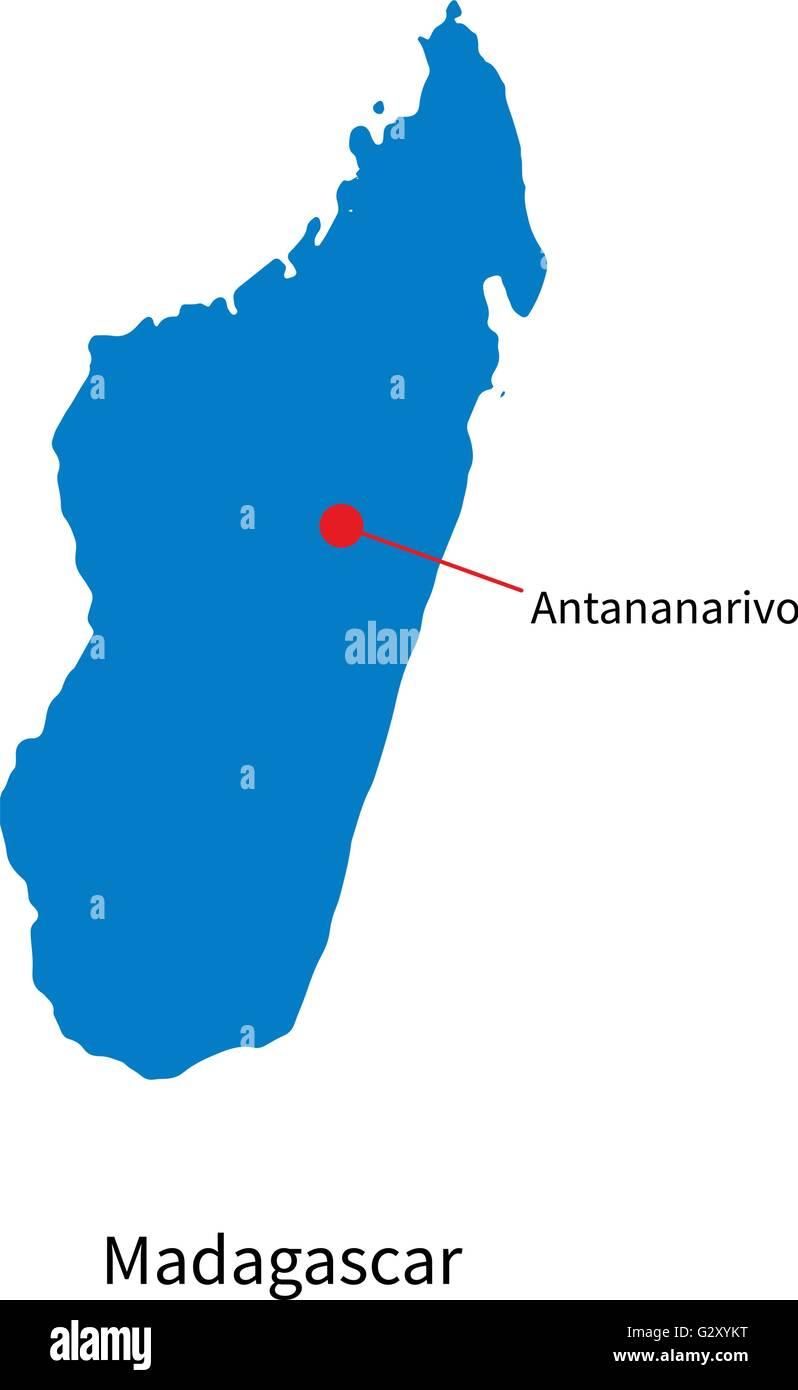 Detailed vector map of Madagascar and capital city ... on sherbro island map, mbabane map, monrovia map, niamey map, cairo map, asmara map, kampala map, malabo map, masoala national park map, lilongwe map, pretoria map, casablanca map, harare map, kinshasa map, bujumbura map, maseru map, lagos map, dar es salaam map, johannesburg map, al hasakah map,