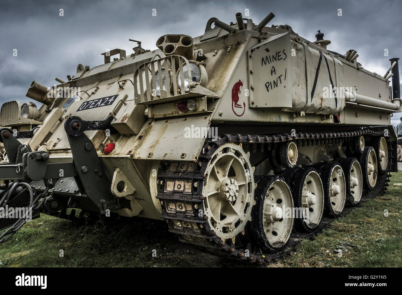 Armoured personnel carrier (APC)  at Duxford air base - Stock Image