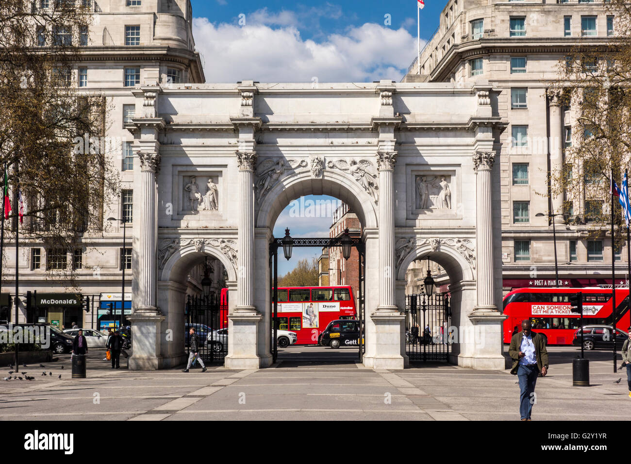 Marble Arch, London, UK - Stock Image