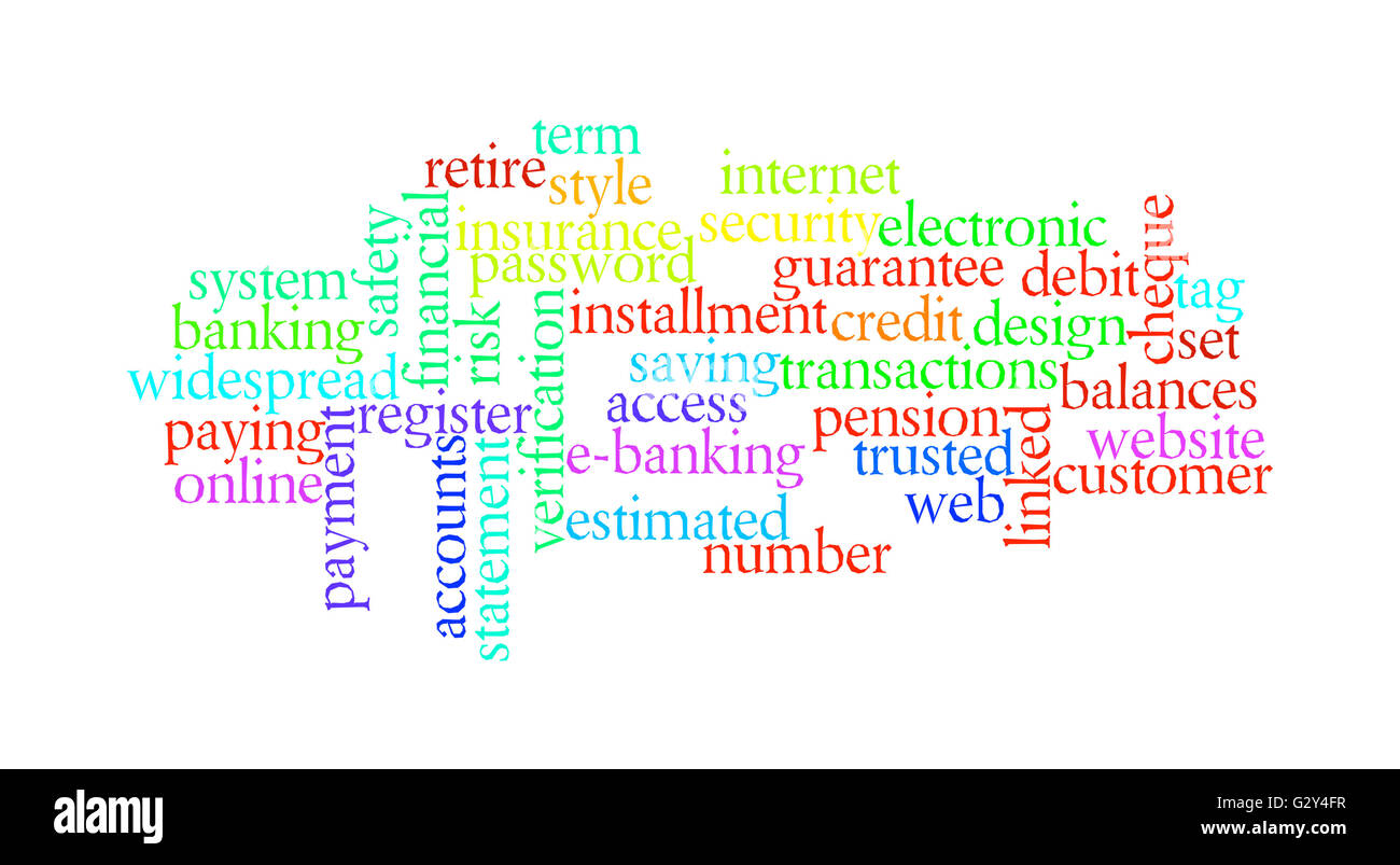 Internet banking concept - Stock Image