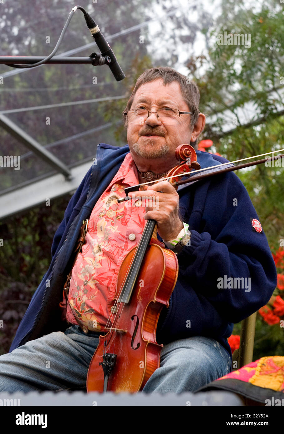 Folk musician Dave Swarbrick at Moseley Folk Festival 8th September 2009. -  Stock Image