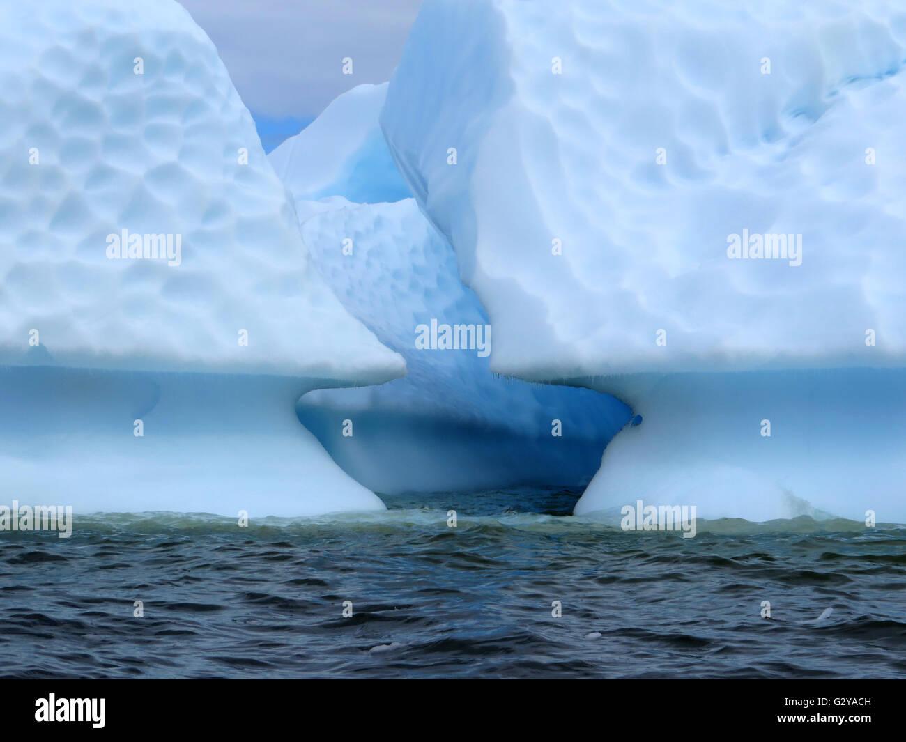 Icebergs in Antarctica - Stock Image