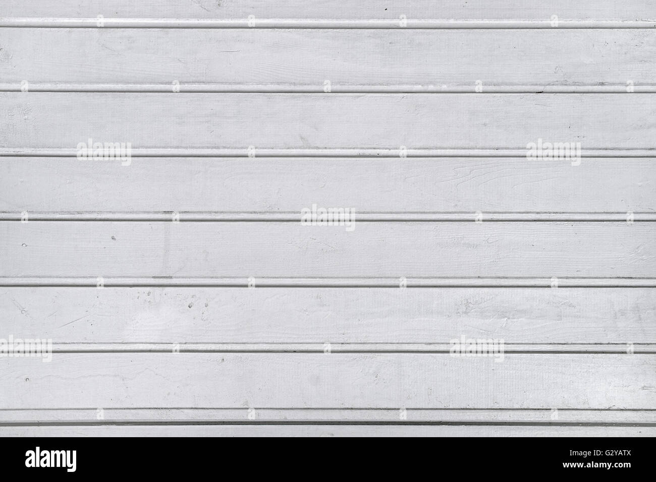 White wood planks texture, pale painted wooden wall - Stock Image