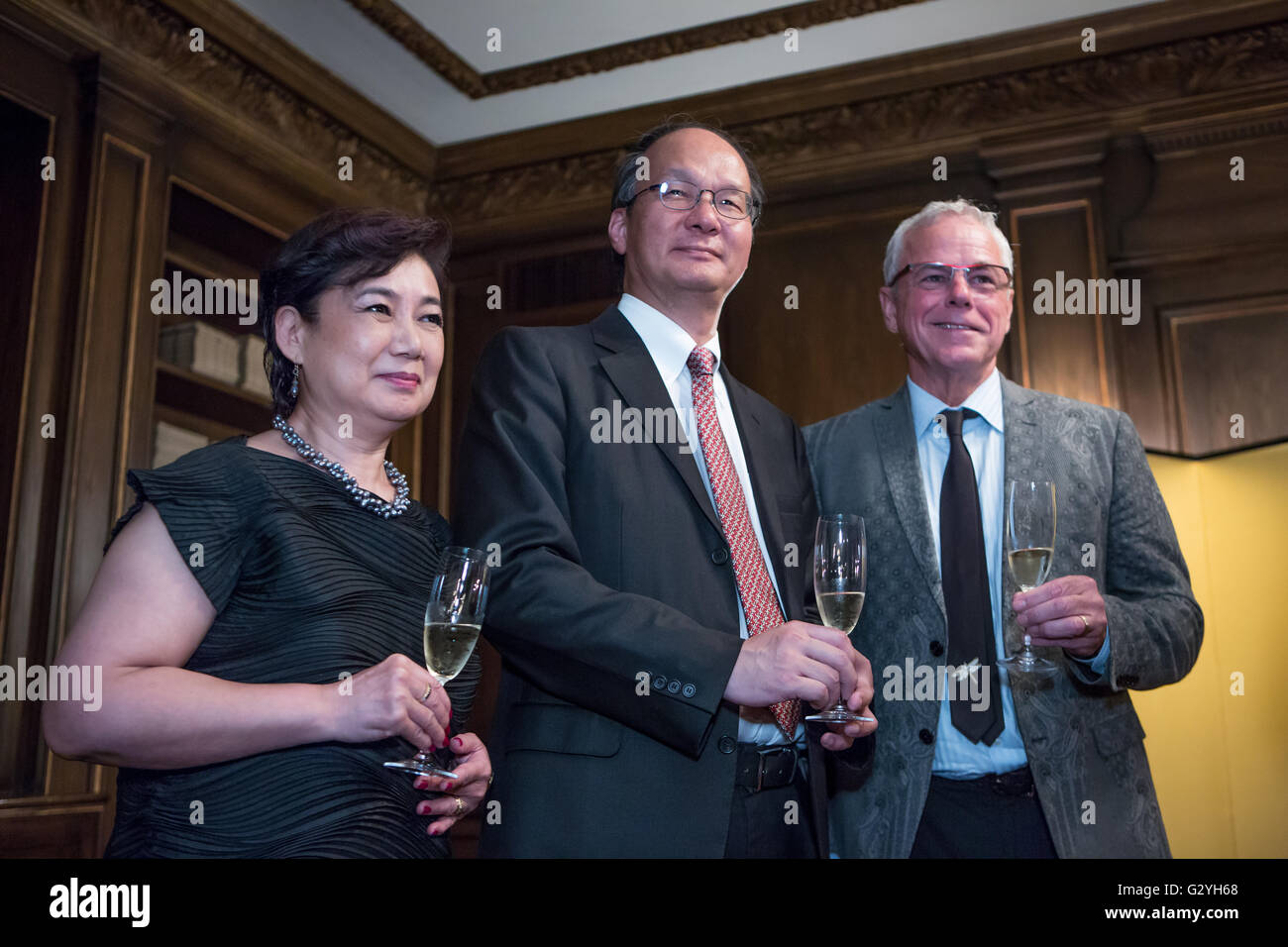 New York, NY - 3 June 2016. Reiichiro Takahashi, Ambassador and Consulate General of Japan to New York, toasting - Stock Image