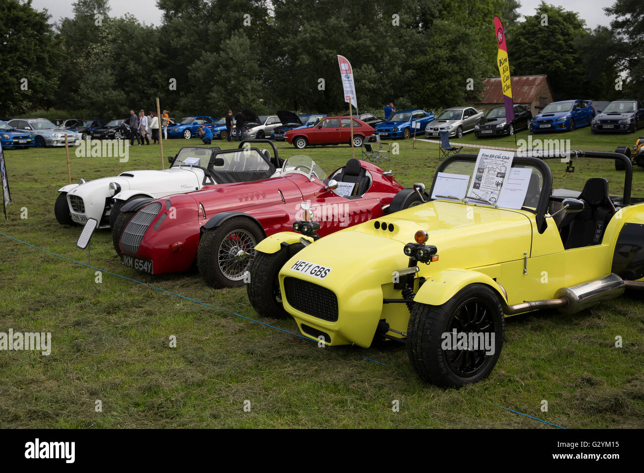 bromley, uk. 5th june 2016. a row of kit cars on dispay at the stock