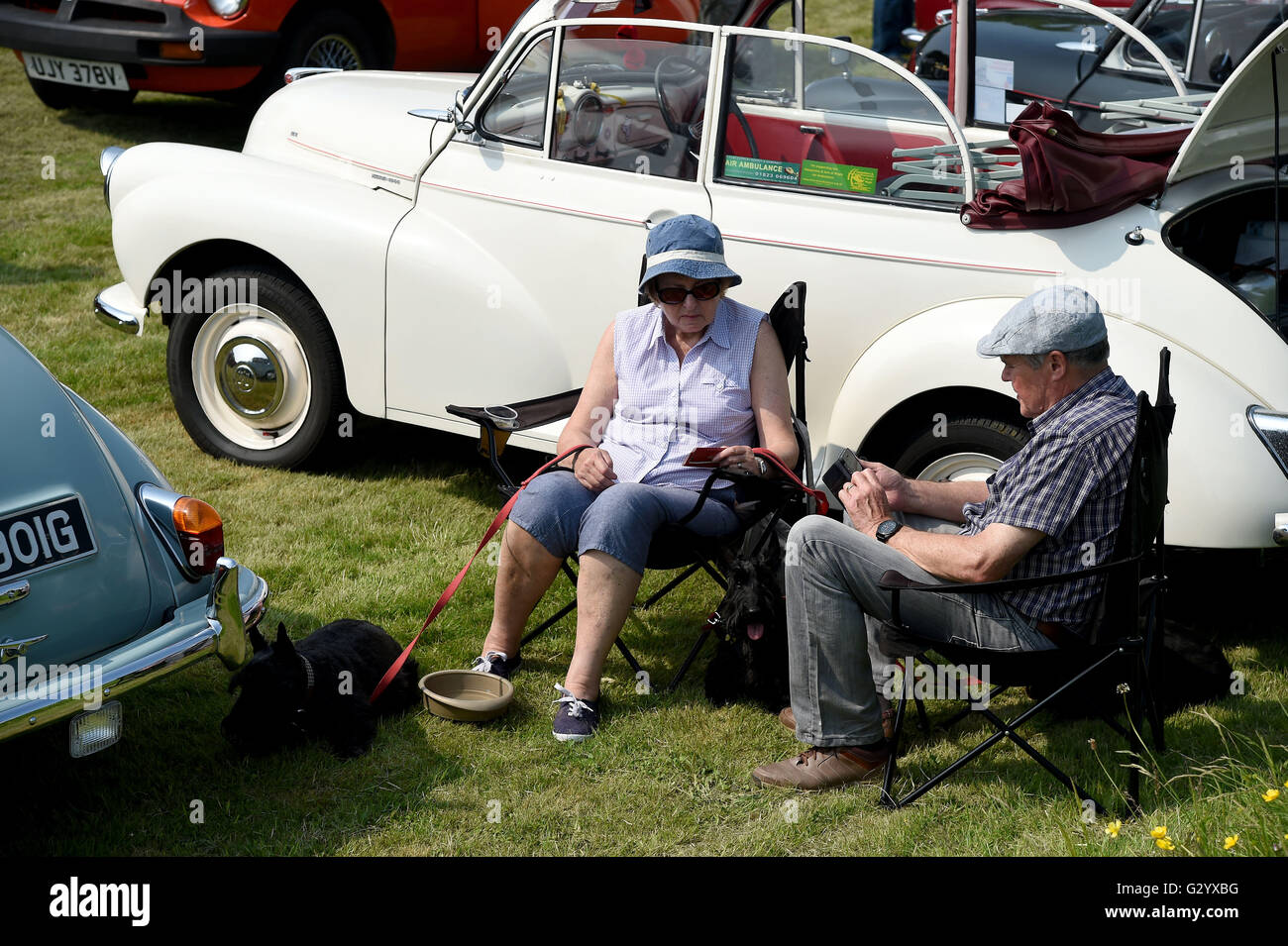 Weymouth, Dorset, UK. 05th June, 2016. Classic car owners. The Hardy ...