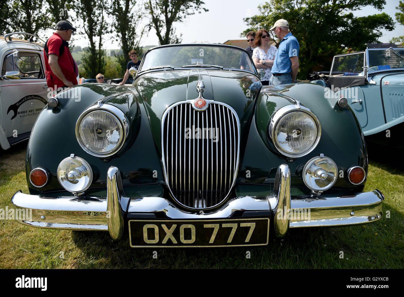 Jaguar XK 150. The Hardy Country Classic Car Tour Stock Photo