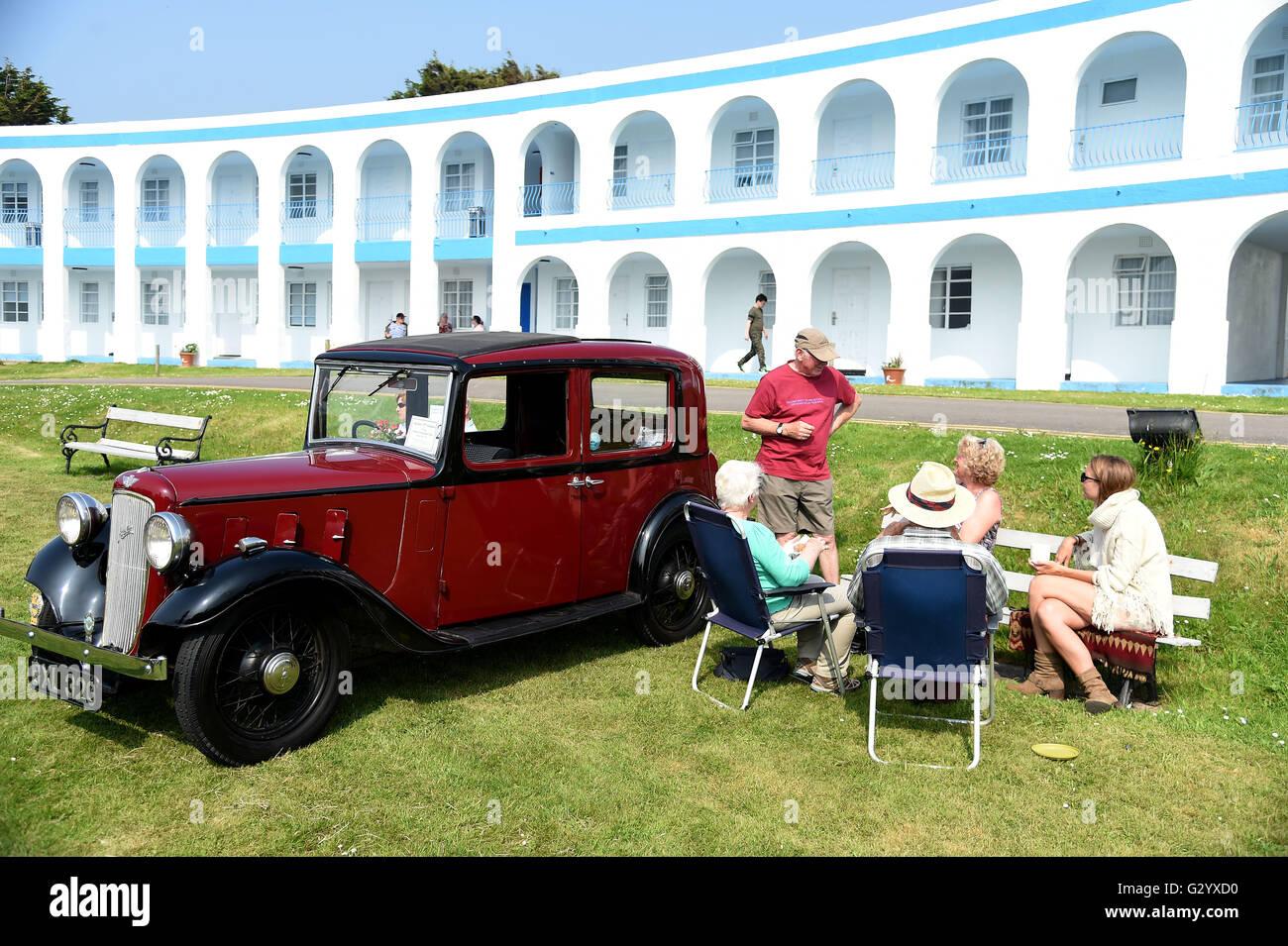 Weymouth, Dorset, UK. 05th June, 2016. Austin classic car. The Hardy ...