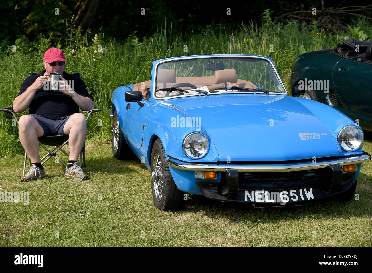 Triumph Spitfire 1500. The Hardy Country Classic Car Tour - Stock Image