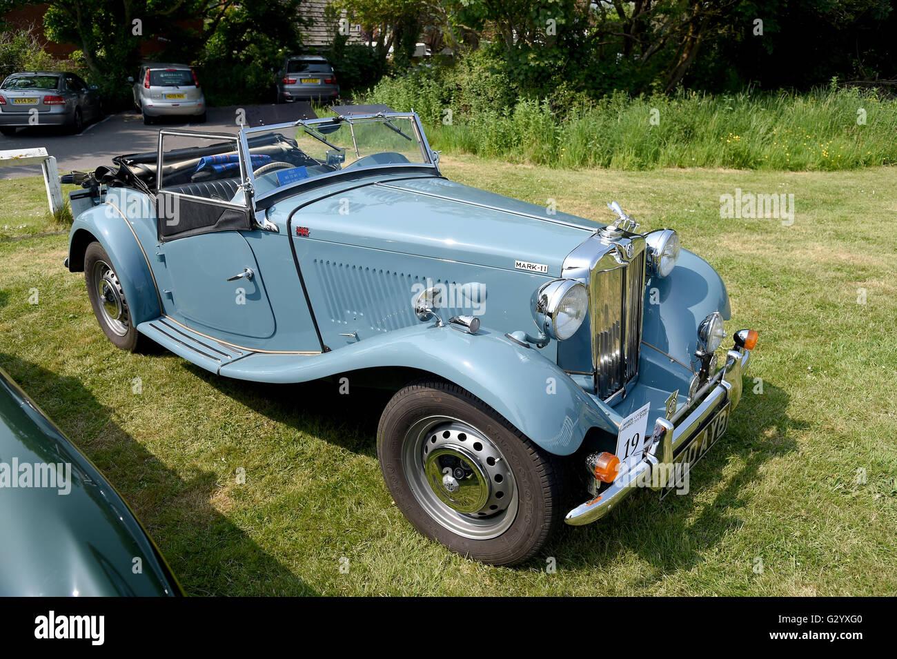 Weymouth, Dorset, UK. 05th June, 2016. 1953 MG TD Mark II. The Hardy ...