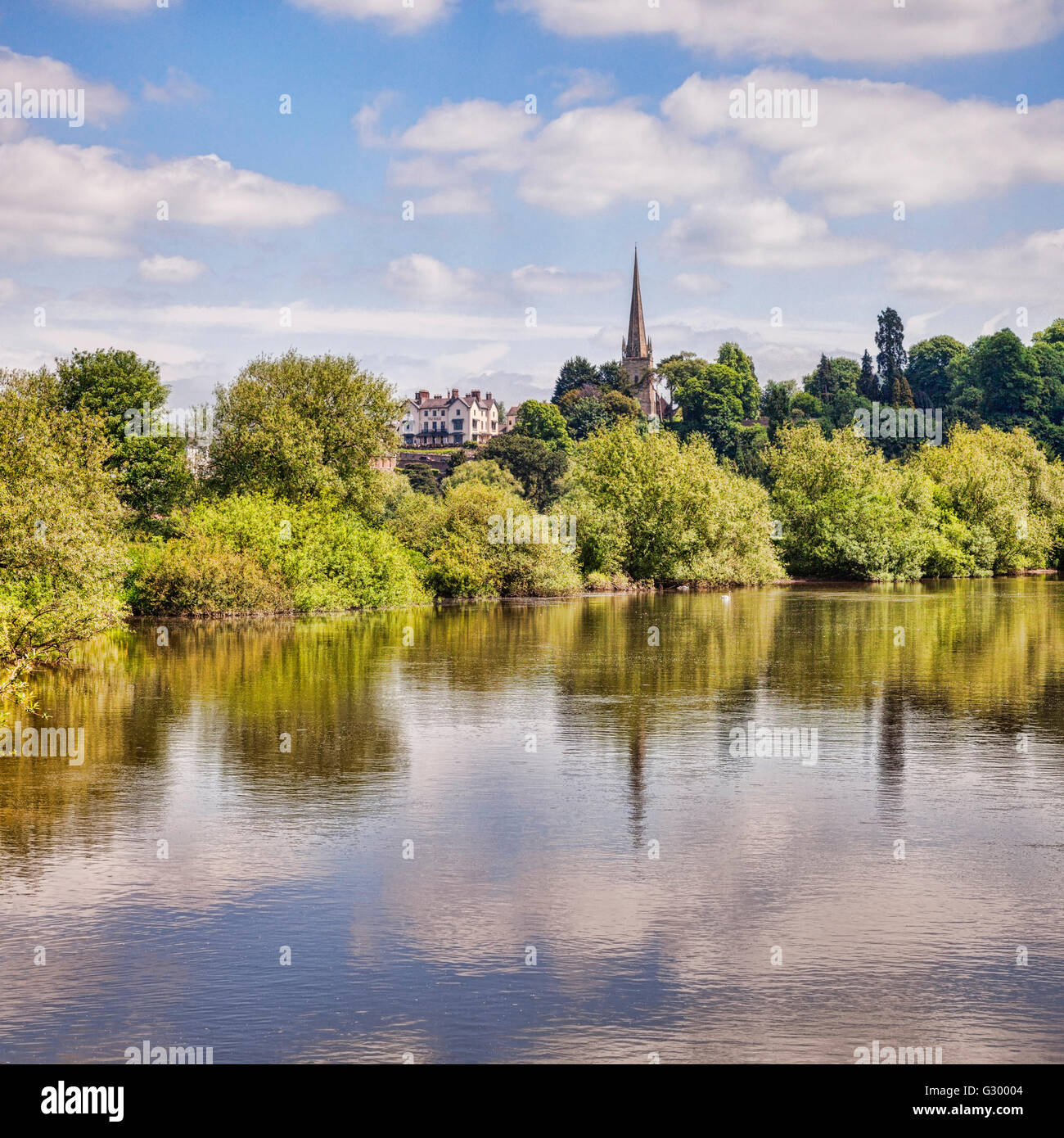 Ross-on-Wye and the River Wye, Herefordshire, England, UK - Stock Image