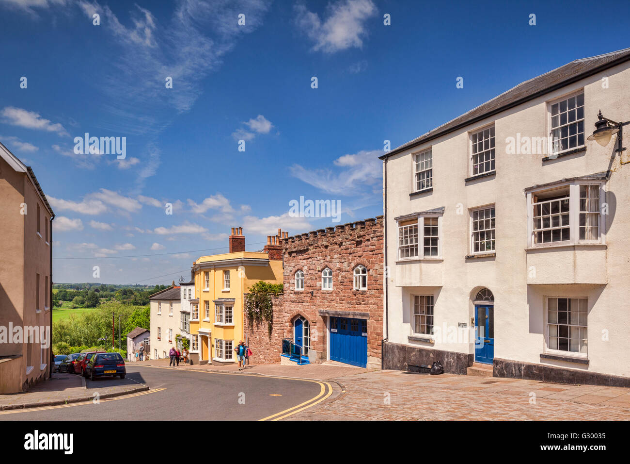 Attractive buildings in Wye Street, Ross on Wye, Herefordshire, England, UK - Stock Image